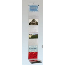 Invotis Fotohalter LB49 für 17 Fotos 10x15 im Querformat 194 x 16 cm