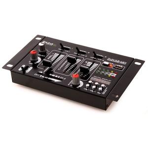DJ PA Stereo Mischpult USB MP3 Party Kompakt Mixer 4-Kanal VU-Meter Ibiza Sound DJ-21 USB MKII