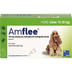 AMFLEE 134 mg Spot-on Lsg.f.mittelgr.Hunde 10-20kg 3 St.