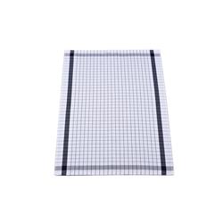 Ross Geschirrtuch in weiß/schwarz kariert, 50 x 70 cm