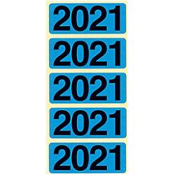 Bene Jahr 2021 Jahreszahlen Blau 48 x 19 mm 100 Stück