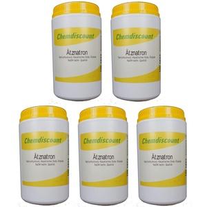 Chemdiscount 5x1kg Ätznatron in Stabiler Dose (NaOH Natriumhydroxid) Mikroperlen