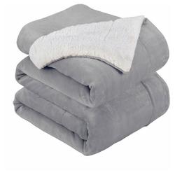 Wohndecke Maschinenwäsche, Warm halten, Bequem Langlebig, Hohe Qualität,, i@home, Bequem und langlebig grau
