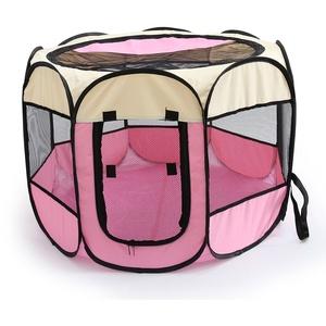 PENIVO 6 Farben-tragbares faltendes Hundehaus,Haustier Hund / Katze zelt Cage Puppy Home Kennel Achteckigen Zaun im freien Pet Übung Spielen Käfig Laufställe (72cm, Pink)