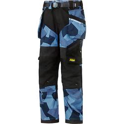 Snickers Bekleidung Snickers Kinderhose navy-camo Softbundhosen Kinder schwarz/blau Gr. 98  Kinder