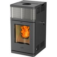 Fireplace Gravio Stahl schwarz