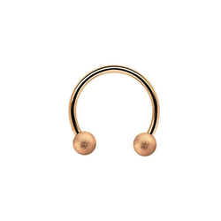 Adelia´s Nasenpiercing CBR Piercing Circular Barbell Ring mit Kugeln diamantiert, Aus 316l Stahl? PVD Rosegold beschichtet