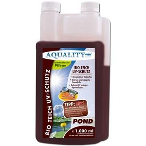 AQUALITY Bio Teich UV-Schutz (GRATIS Lieferung in DE - Beugt Algenwachstum vor und sorgt bei starker Sonne für eine angenehmere Umgebung im Gartenteich - wirkt wie EIN Lichtfilter), Inhalt:1 Liter