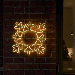 LED Fenstersilhouette Schneeflocke IP44 Weiß