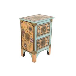 Casa Moro Kommode Orientalische handbemalte Kommode Sunita 40x30x60 cm (B/T/H), RK45-10 (1 St), handbemalt mit Paisley Muster