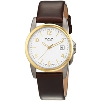 Boccia Titanium Boccia Damen-Armbanduhr XS Analog Quarz Leder 3298-05