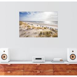 Posterlounge Wandbild, Strandkörbe am Sylter Strand 30 cm x 20 cm