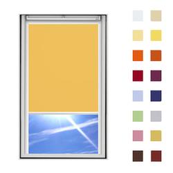 Dachfensterrollo guenstig nach Mass, Stoff Polyester, Farbe gelb, mit Kassette oder als Springrollo, weitere 120 Farben im Shop