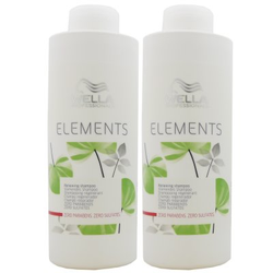 2 x 1000 ml Wella Elements stärkendes Shampoo sulfatfrei Set