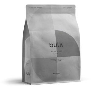 Bulk Pure Whey Protein Isolat, Proteinpulver, Protein Shake Molkeprotein, Weiße Schokolade, 2,5 kg, Verpackung Kann Variieren