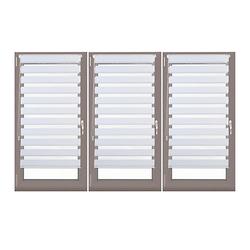 3x Doppelrollo Klemmfix 110x150 Duorollo zum Klemmen Fensterrollo Set Jalousie weiß Gr. 110 x 156