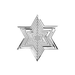 Weihnachtsstern 3D Stern Anhänger Metall Hängedeko Deko für Weihnachten Weihnachtsdeko - silber