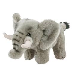 Teddys Rothenburg Kuscheltier Elefant klein 25 cm stehend mit Stoßzähnen (Stoffelefant Plüschelefant, Stofftiere Elefanten Plüschtiere Babyelefant Elefantenbaby)