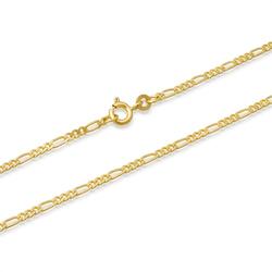 333er Goldkette: Figarokette Gold 45cm