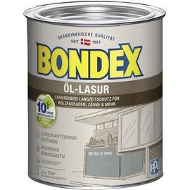 Bondex Öl-Lasur 750 ml Metallicgrau