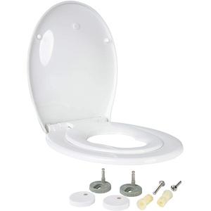 ONVAYA® Familien WC Sitz mit Absenkautomatik   Verkleinerbarer Toilettendeckel für Kinder   Weiße Toilettenbrille   Klodeckel mit integriertem Kindersitz