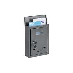 relaxdays Briefkasten Briefkasten mit Namensschild grau