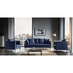 Places of Style Sofa Newberry blau
