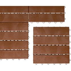 UPP Terrassenplatten Optik Holzdiele, 30x30 cm, 24-St., Klickfliesen