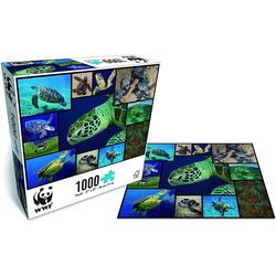 WWF Steckpuzzle WWF Puzzle Meeresschildkröten (1000 Teile), 1000 Puzzleteile