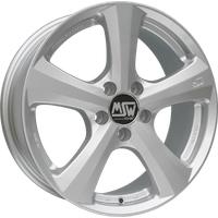 MSW 19 full silver 7x16 ET38 - LK5/114.3 ML73.1 Alufelge silber