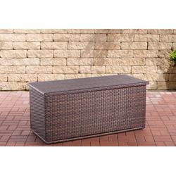 CLP Auflagenbox Comfy, Poly-Rattan Auflagenbox, Gartentruhe für Kissen und Auflagen braun