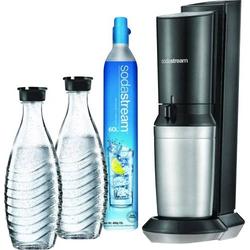 Sodastream Wassersprudler Crystal 2.0 Titan inkl. 2 Glaskaraffen, und 1 CO2-Zylinder