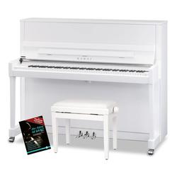 Kawai K-300 WH/P Klavier Set Weiß