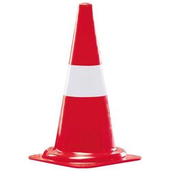 Pylone (5 St), Kegel in Farbe rot mit 1 weißen Streifen. rot