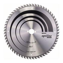Bosch Kreissägeblatt Optiline Wood für Tischkreissägen 315 x 30 x 3,2 mm 60