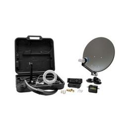XORO MCA 38 HD Camping Satellitenantenne - Set inkl. HDTV Single LNB