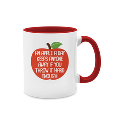 Shirtracer Tasse An apple a day - Tasse zweifarbig