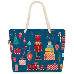 VOID Strandtasche (1-tlg), Nussknacker Geschenke Beach Bag Nussknacker Geschenke Weihnachten Winter Heilig