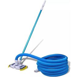 Vaxiuja Poolschlauch Schwimmbadset Schwimmbad Teleskopstange Bodenreinigungsschlauch blau