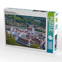 Dreiflüssestadt Passau Lege-Größe 64 x 48 cm Foto-Puzzle Bild von Hanna Wagner Puzzle
