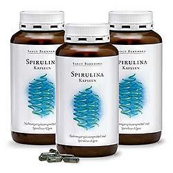 Spirulina-Kapseln 3er-Pack