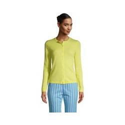 Kaschmir-Cardigan mit rundem Ausschnitt, Damen, Größe: 48-50 Normal, Gelb, by Lands' End, Gelb Zitrone - 48-50 - Gelb Zitrone