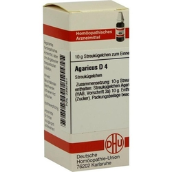 AGARICUS D 4 Globuli 10 g