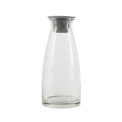 Ib Laursen Teelichthalter Kerzenhalter FILL IT klar aus Glas H13cm Glasvase befüllbar mit Kerzenaufsatz