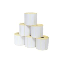 Etikettenrolle - PE weiß glänzend, 89 x 36mm, D125mm, Kern 40, 1500 Etiketten/Rolle