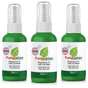Fungustan | Pflegespray für Füße und Nägel (3 Flaschen á 50ml)