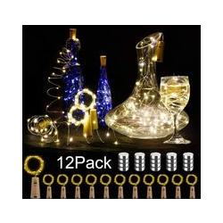 12 pièces LED bouteille lumière, 20 LED 2M guirlandes lumineuses pour la décoration de bricolage