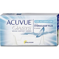 Acuvue Oasys for Astigmatism 6 St. / 8.60 BC / 14.50 DIA / 0.00 DPT / -2.25 CYL / 10° AX