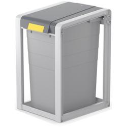 Hailo ProfiLine Öko XL Mülltrennsystem, 38 Liter, Flexibles Mülltrennsystem inkl. Farbsticker zur Müllsorten-Kennzeichnung, Maße (B x H x T): 35,5 x 56,5 x 41 cm