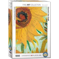 empireposter Puzzle Vincent van Gogh - Sonnenblumen - 1000 Teile Puzzle im Format 68x48 cm, 1000 Puzzleteile